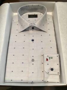オーダーシャツ ワイド衿