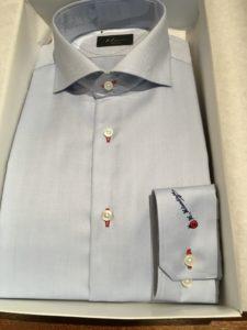 オーダーワイシャツ ホリゾンタルワイド衿