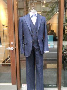 デニム スーツ 写真
