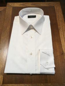 オーダーワイシャツ レギュラー衿写真