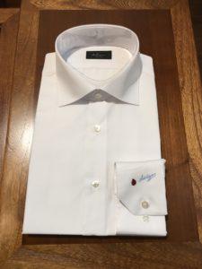 オーダーワイシャツ 白無地写真