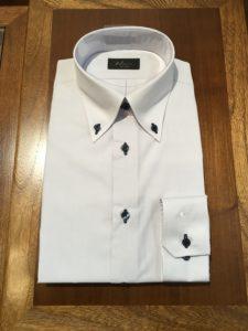 オーダーワイシャツ ボタン穴変更写真