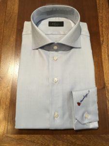 オーダーワイシャツ ワイド衿型写真